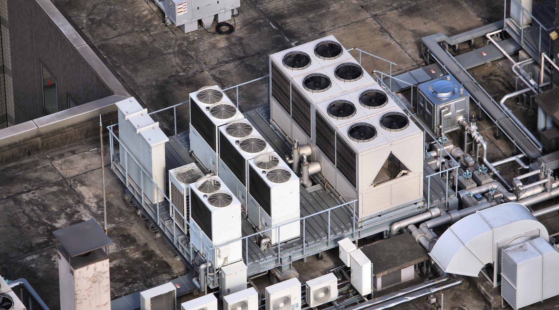 Commercial Air Conditioning on Rooftop